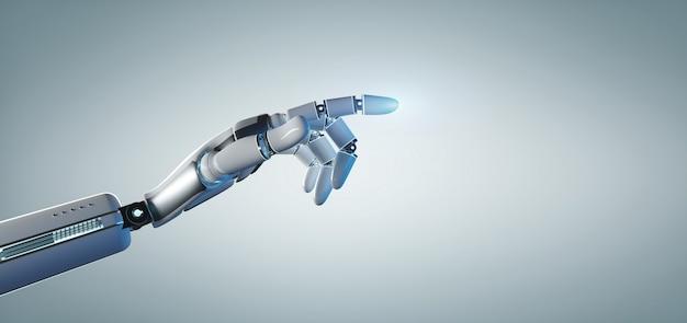 Rappresentazione uniforme 3d del onn della mano del robot del cyborg
