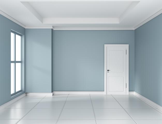 Rappresentazione vuota di interior design 3d della stanza della menta