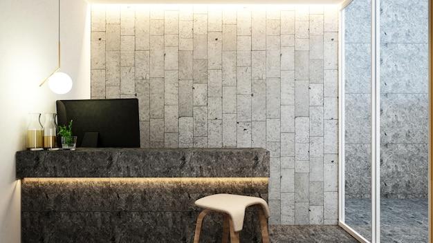 Reception nella hall per opere d'arte di hotel o ufficio