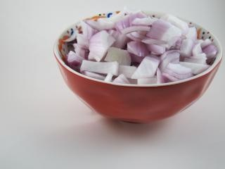 Red onion, cubo