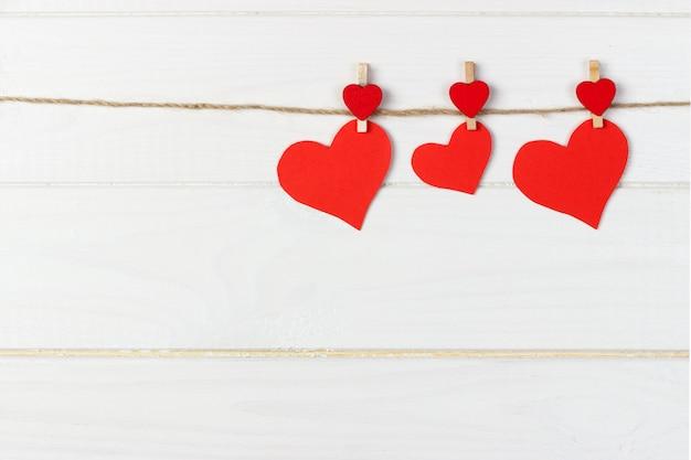 Regalo di san valentino in decorazione natalizia
