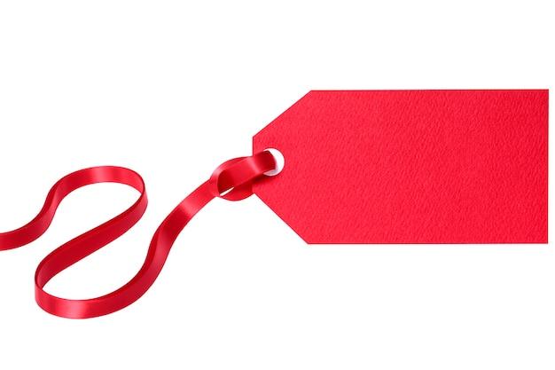 Regalo rosso o cartellino del prezzo