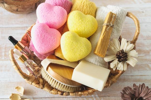 Relax, spa, cosmetici di bellezza per il trattamento del corpo