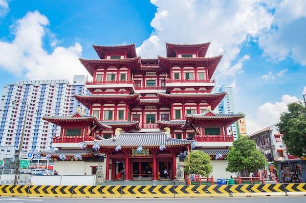 Reliquia del dente di buddha templein chinatown di singapore