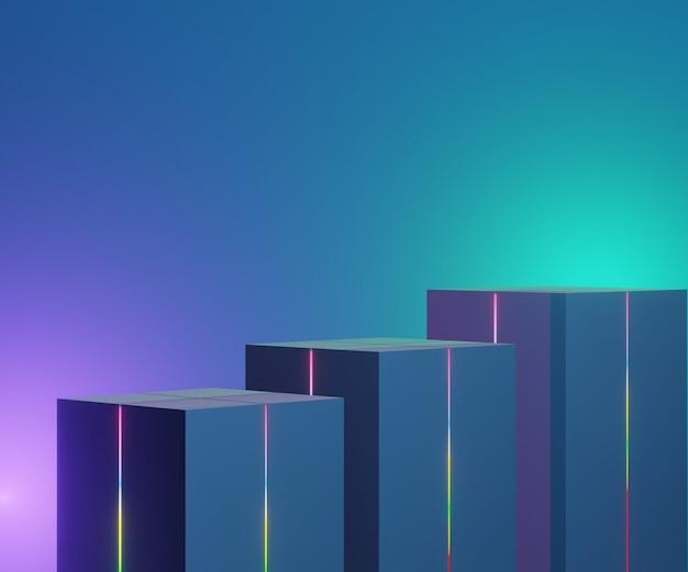 Rendere la scena del podio geometrico minimo