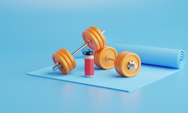 Rendering 3d attrezzature per il fitness