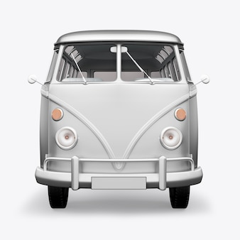 Rendering 3d bus hippie