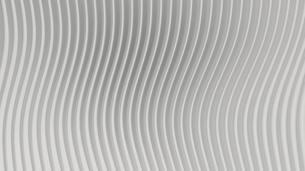 Rendering 3d curva astratta sfondo bianco chiaro