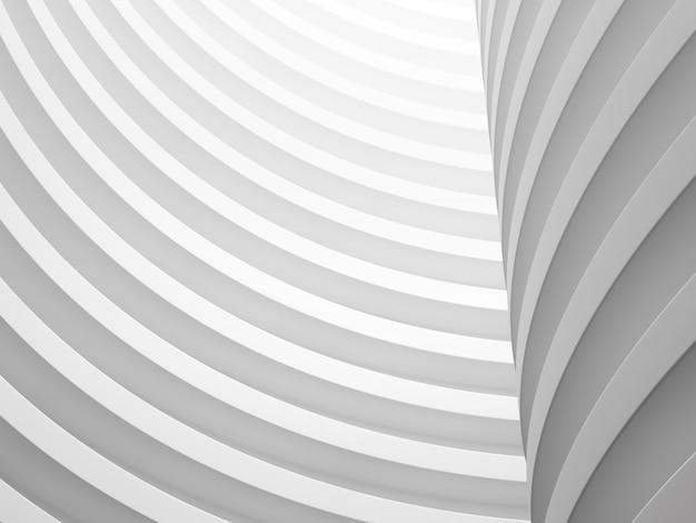 Rendering 3d del modello astratto bianco.