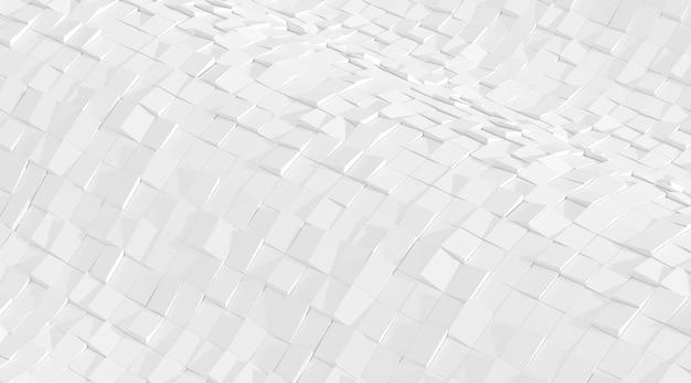 Rendering 3d del modello di geometria astratta bianca.