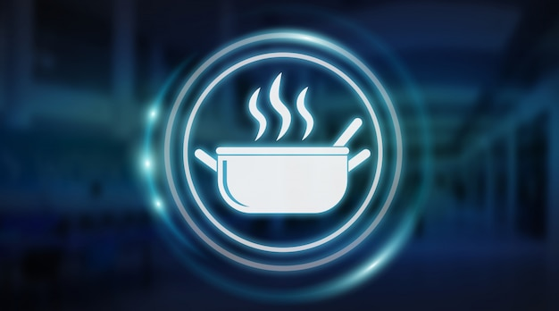 Rendering 3d dell'interfaccia per applicazione alimentare fatta in casa
