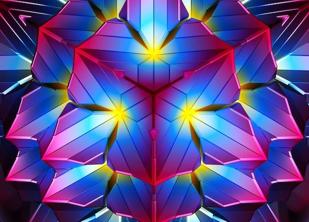 Rendering 3d di arte astratta colorata