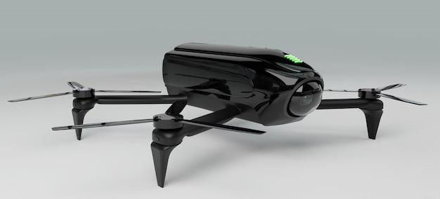 Rendering 3d di droni moderni