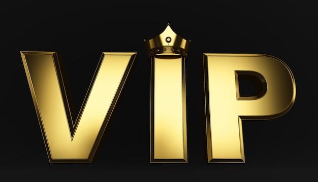 Rendering 3d di golden vip crown, royal oro vip corona sul cuscino, crown vip