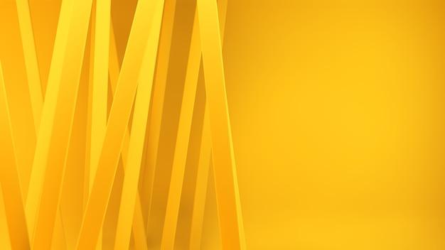 Rendering 3d di linee gialle