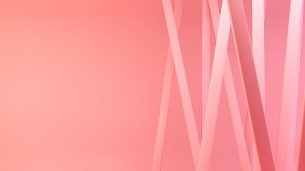 Rendering 3d di linee rosa