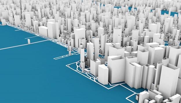 Rendering 3d di new york