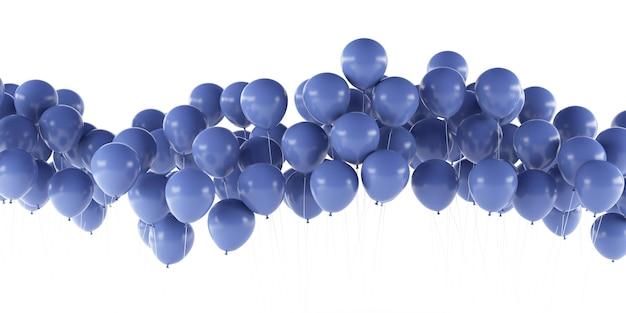 Rendering 3d di palloncini isolati su sfondo bianco.