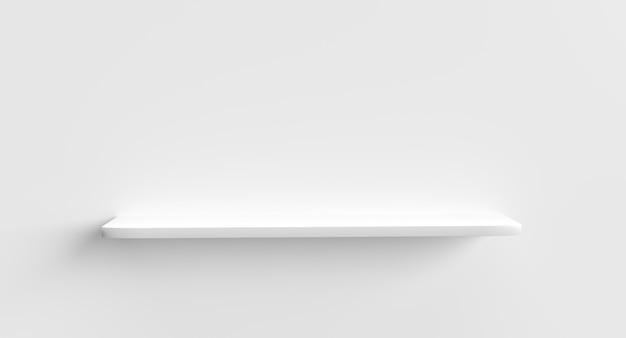 Rendering 3d di una mensola bianca
