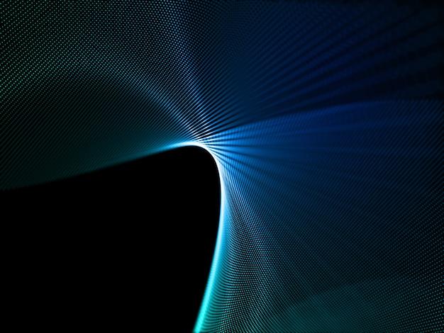 Rendering 3d di uno sfondo astratto con progettazione di particelle digitali