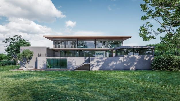 Rendering 3d di visualizzazione casa