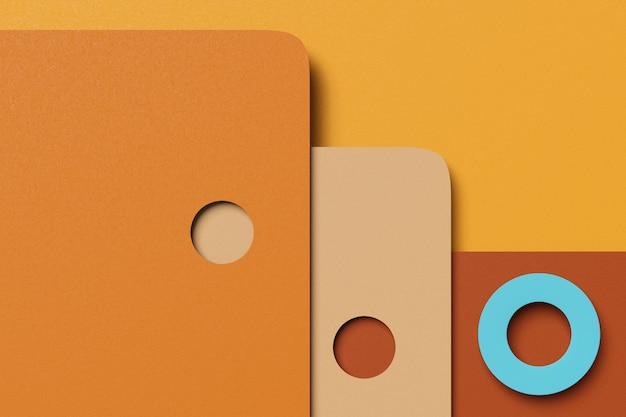 Rendering 3d elegante sfondo astratto business di semplici forme geometriche. rendering 3d.