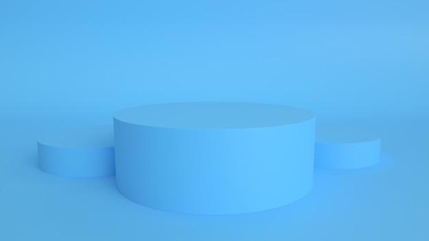 Rendering 3d il prodotto poduim presenta uno sfondo pastello