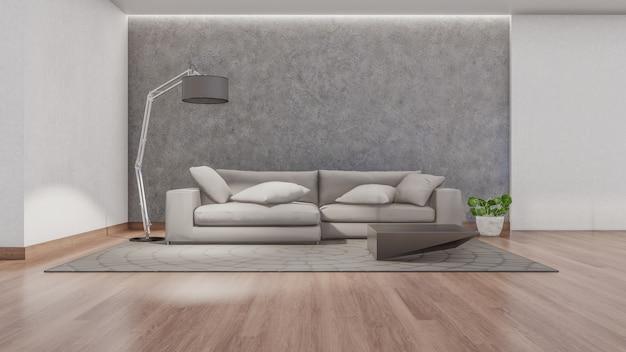 Rendering 3d interni di soggiorno
