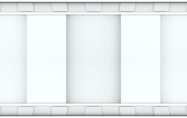 Rendering 3d. moderna parete grigia minimalista.