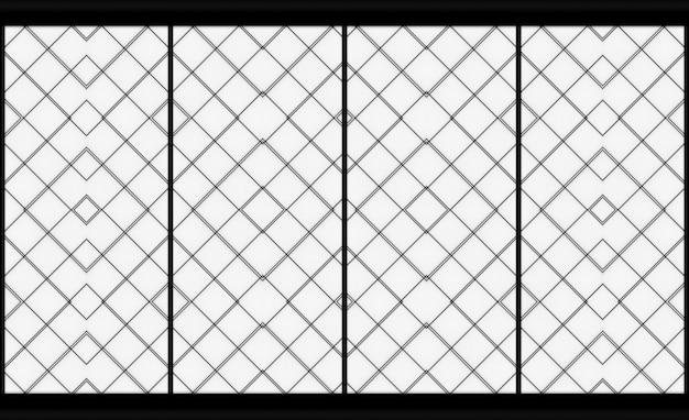 Rendering 3d. porta di parete di arte moderna carta modello quadrato orientale di forma.