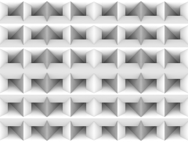 Rendering 3d. senza soluzione di continuità minimalista bianco quadrato griglia arte muro sfondo.