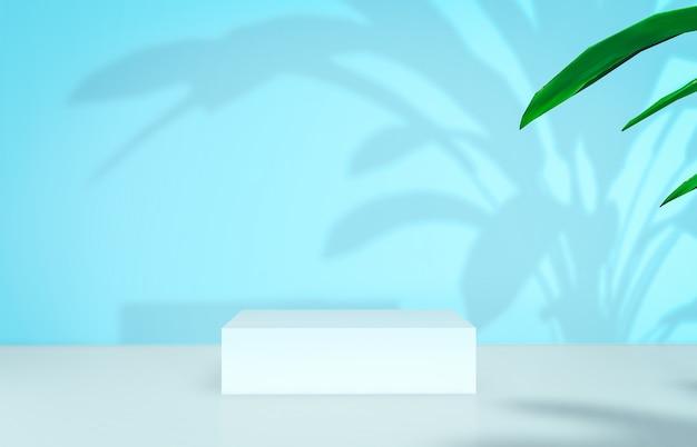 Rendering 3d. sfondo di bellezza naturale per la visualizzazione di prodotti cosmetici