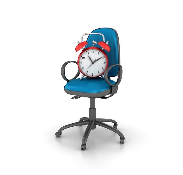 Rendering illustrazione sedia con orologio