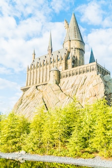 Replica di hogwarts school of witchcraft castle and wizardry