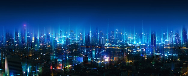 Rete wireless e città di connessione