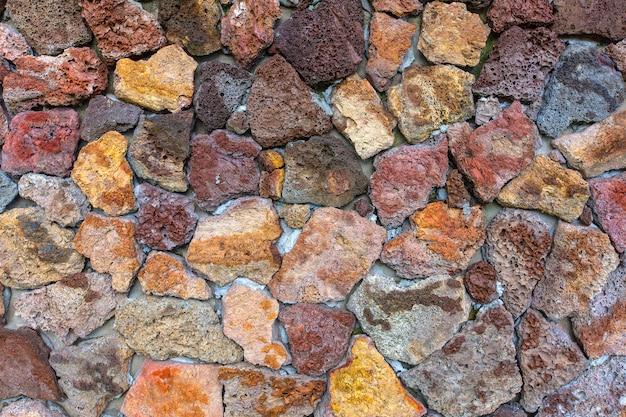 Reticolo di struttura della parete di pietra.