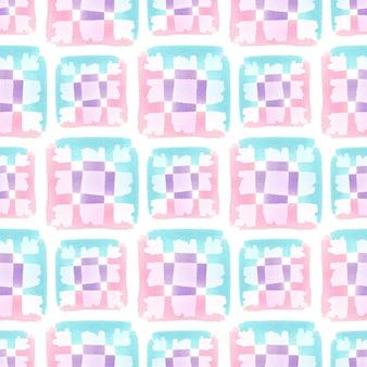 Reticolo senza giunte dell'acquerello con struttura quadrata pastello. design tessile moderno