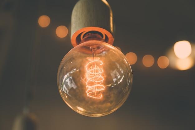 Retro decorazione della lampadina