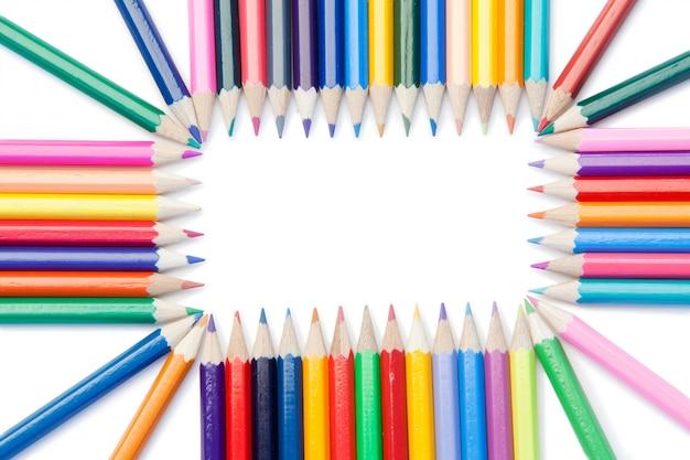 Rettangolo di matite colorate