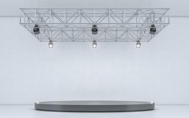 Riflettore sfondo e lampada con palco