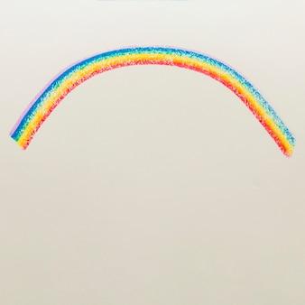 Righe disegnate nei colori lgbt