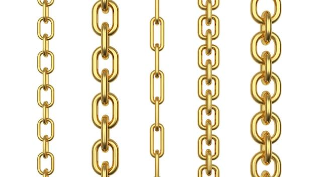 Righe verticali di catene d'oro