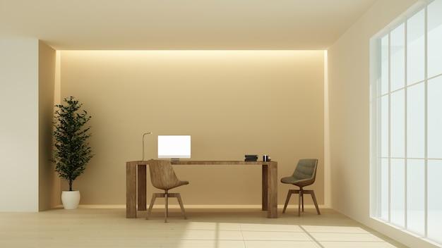Rilassi il rendering 3d degli spazi interni in hotel - stile minimalista