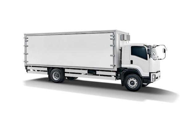 Rimorchio bianco dell'automobile del camion o del contenitore di carico del trasporto