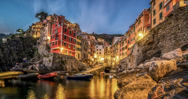 Riomaggiore, cinque terre - italia