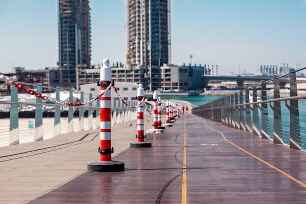 Riparazione del ponte su blue waters, dubai