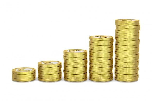 Rising money, monete accatastate