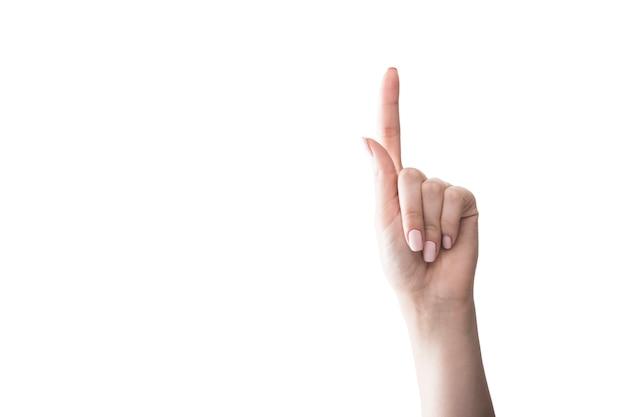 Ritaglia la mano verso l'alto