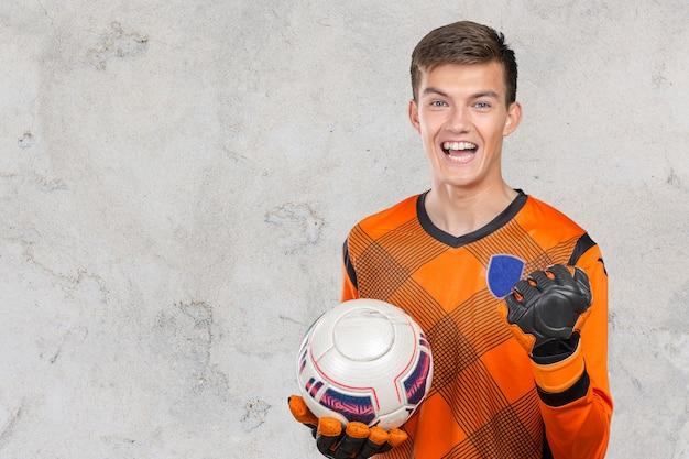 Ritratto del giocatore di calcio professionista