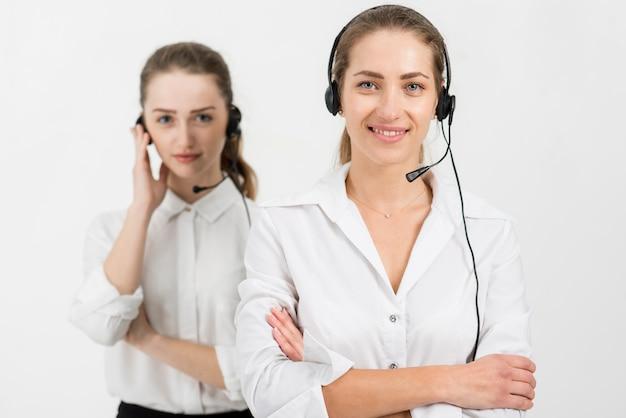 Ritratto di agenti del call center
